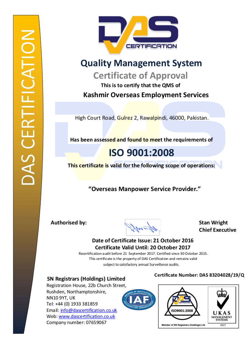 Kashmir Overseas Employment Services – YK Group